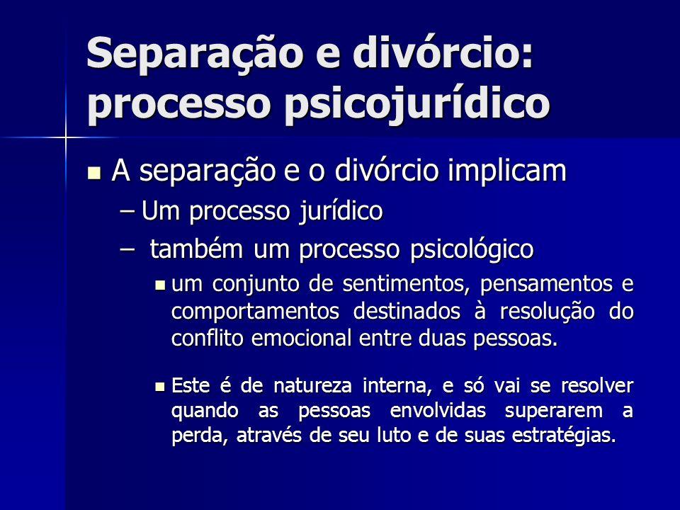 Separação e divórcio: processo psicojurídico
