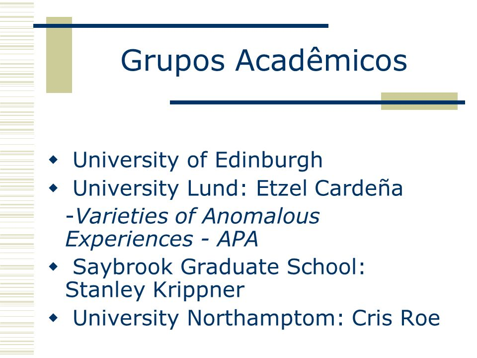 Grupos Acadêmicos University of Edinburgh