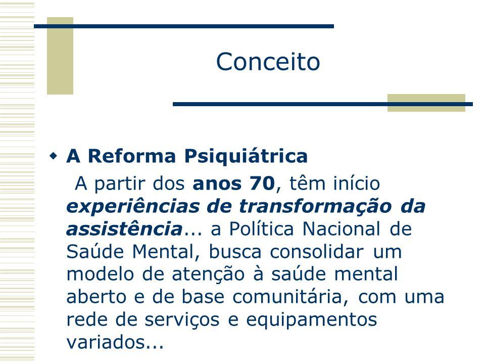 Conceito A Reforma Psiquiátrica