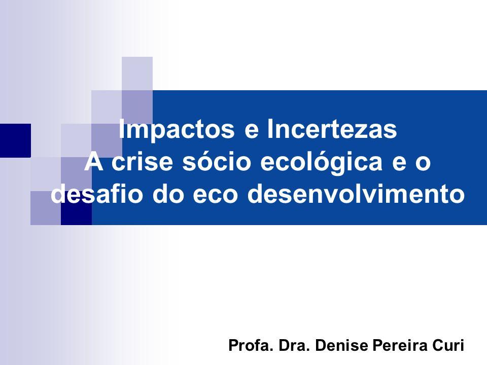Impactos e Incertezas A crise sócio ecológica e o desafio do eco desenvolvimento