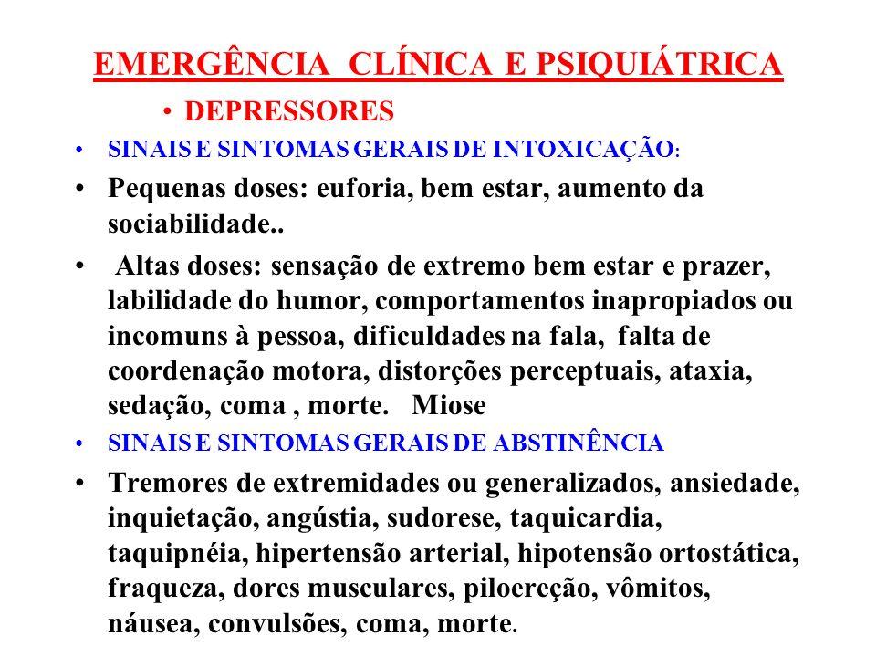 EMERGÊNCIA CLÍNICA E PSIQUIÁTRICA
