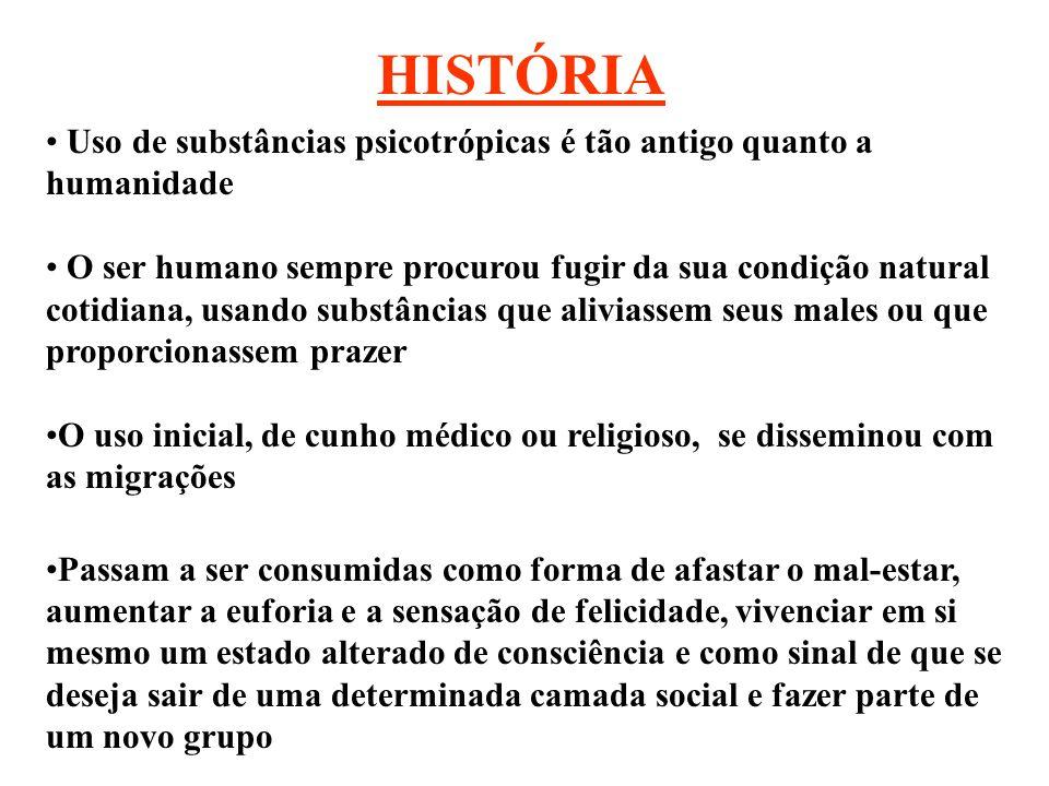 HISTÓRIA Uso de substâncias psicotrópicas é tão antigo quanto a humanidade.
