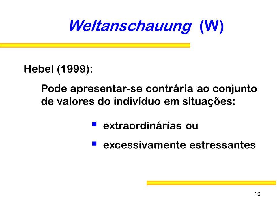 Weltanschauung (W) Hebel (1999):