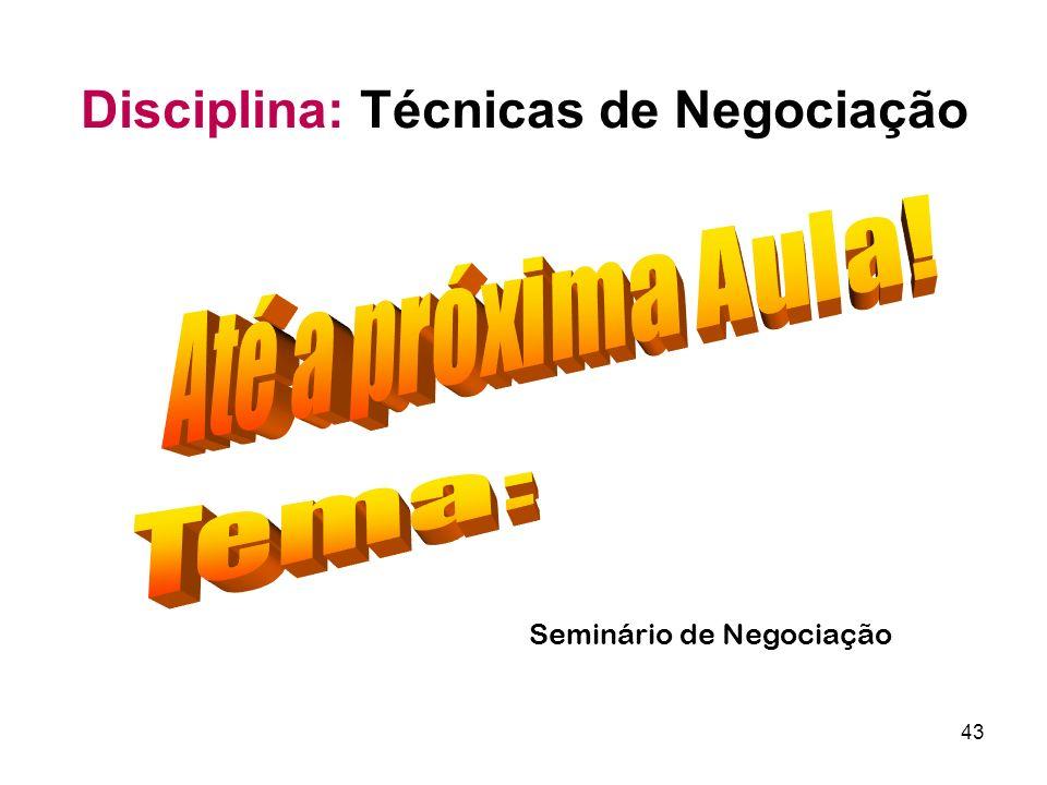 Seminário de Negociação