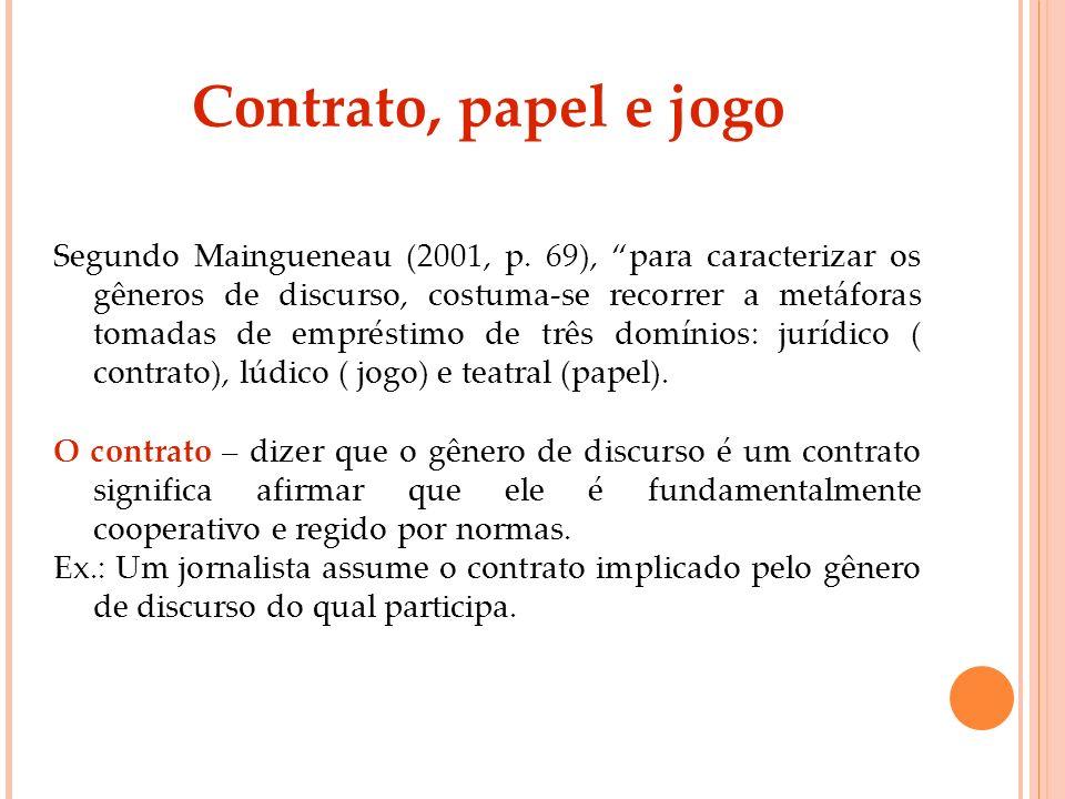 Contrato, papel e jogo