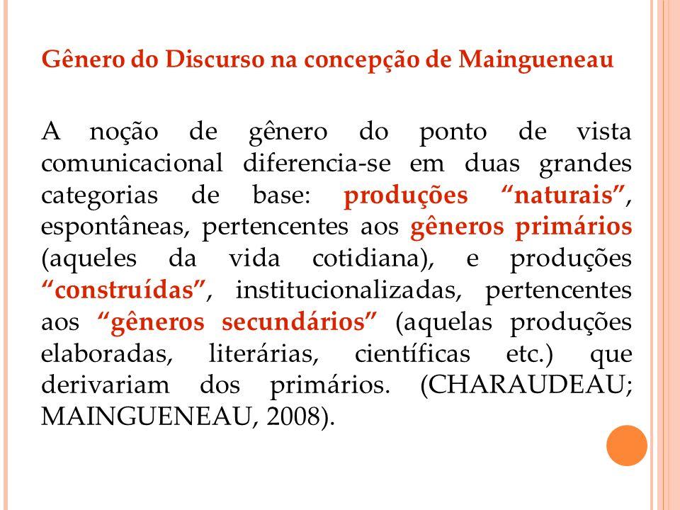 Gênero do Discurso na concepção de Maingueneau