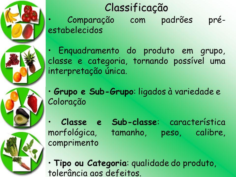 Classificação • Comparação com padrões pré-estabelecidos