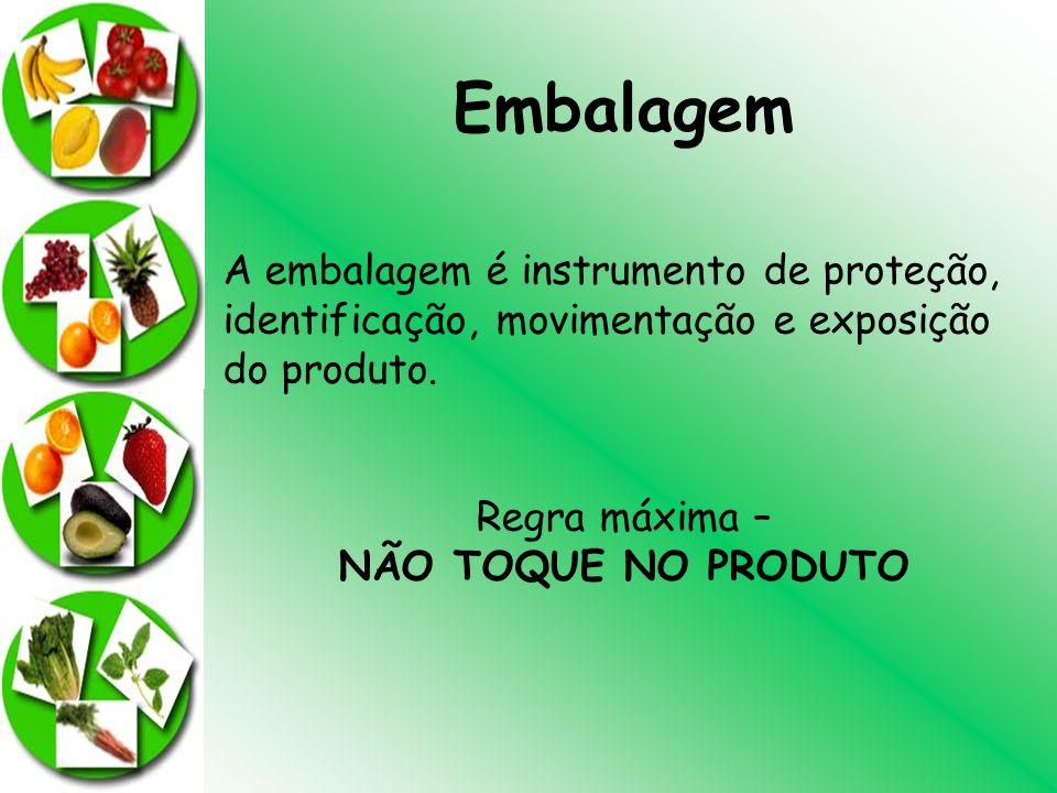 Embalagem A embalagem é instrumento de proteção, identificação, movimentação e exposição do produto.