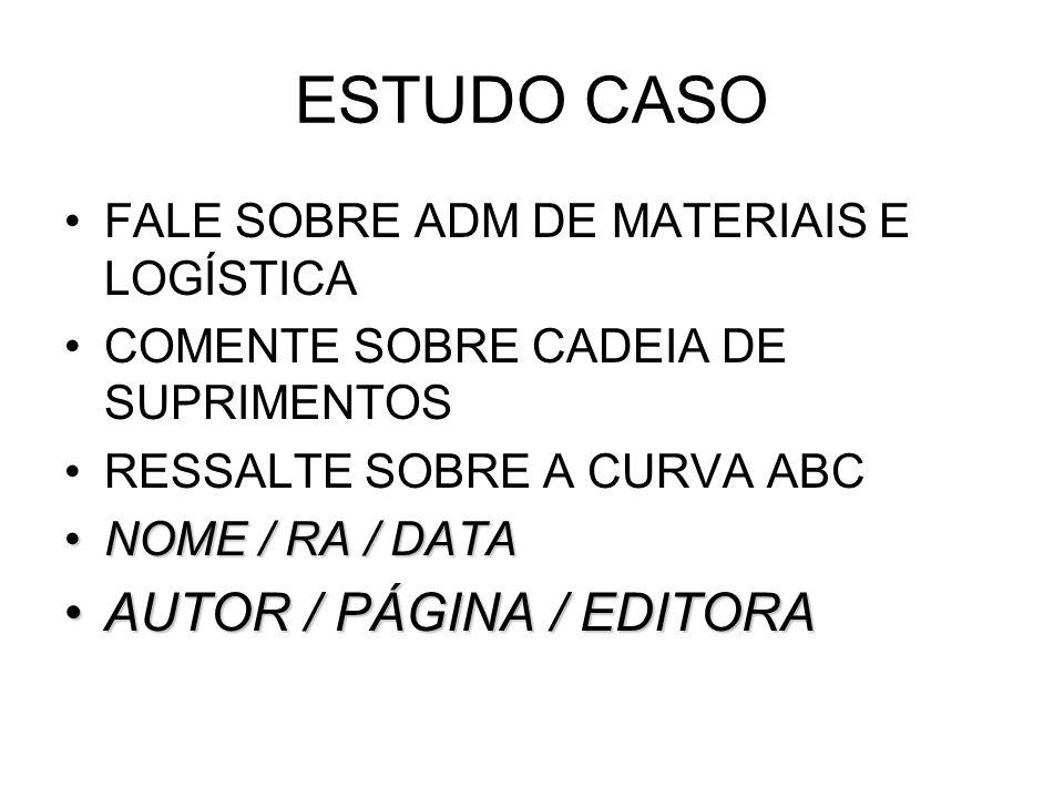 ESTUDO CASO AUTOR / PÁGINA / EDITORA