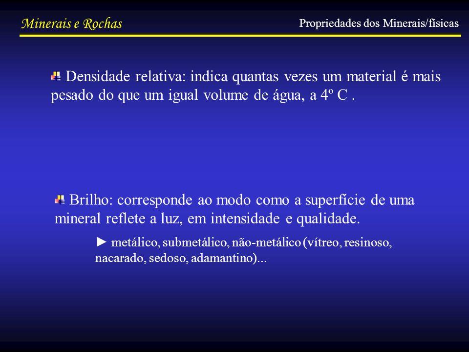 Propriedades dos Minerais/físicas