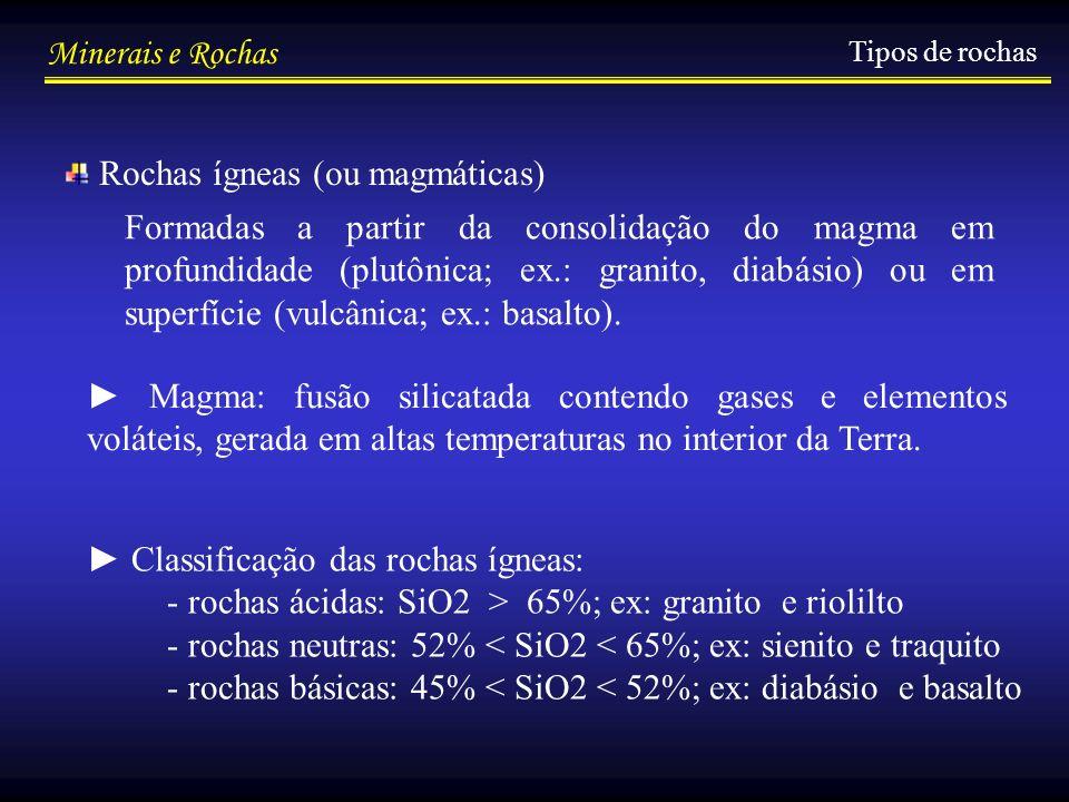 Rochas ígneas (ou magmáticas)