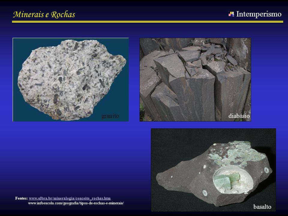 Intemperismo granito diabásio basalto