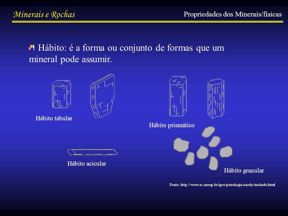 Hábito: é a forma ou conjunto de formas que um mineral pode assumir.