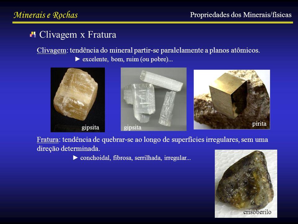 Clivagem x Fratura Propriedades dos Minerais/físicas