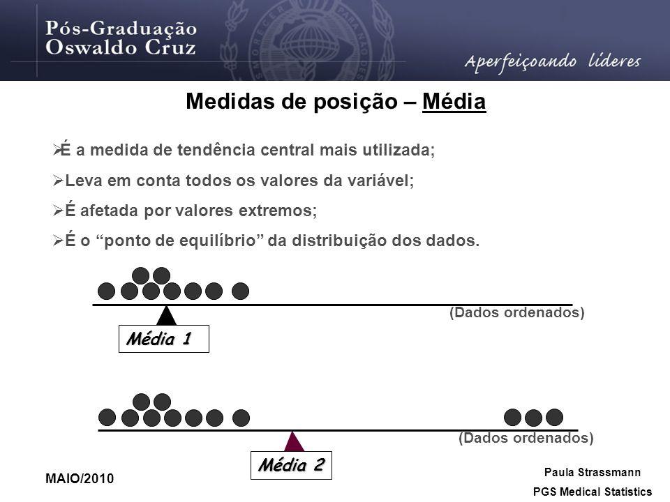 Medidas de posição – Média PGS Medical Statistics