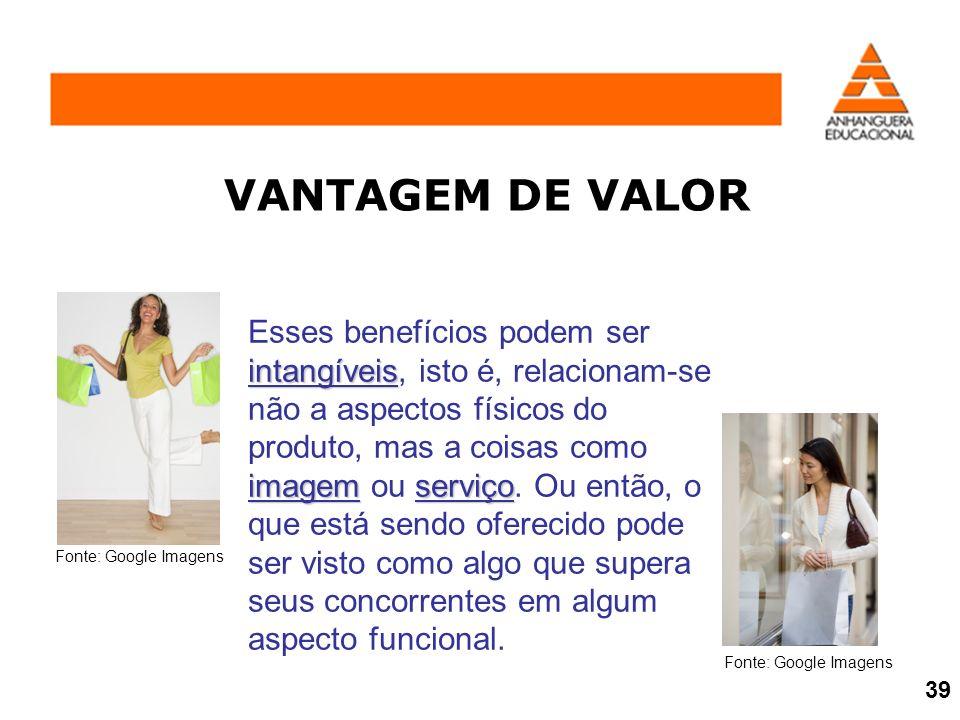 VANTAGEM DE VALOR