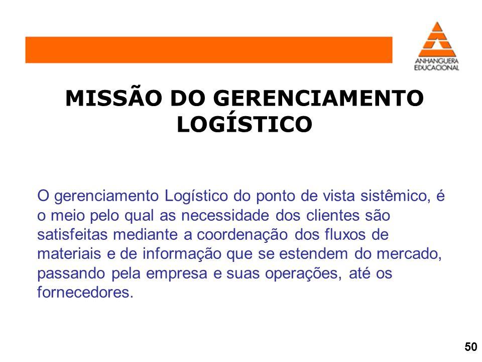 MISSÃO DO GERENCIAMENTO LOGÍSTICO