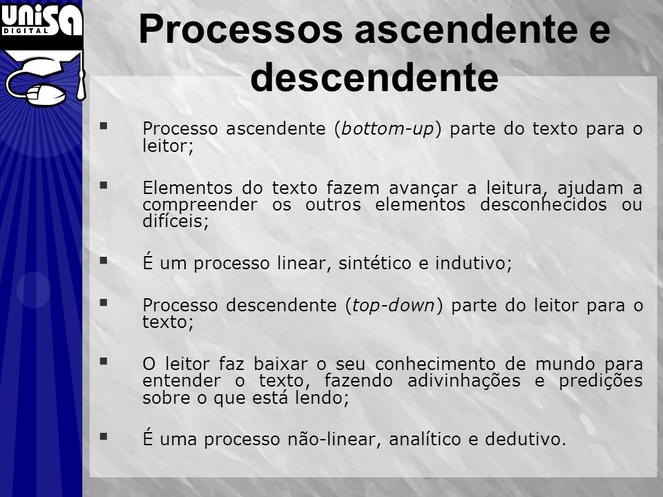 Processos ascendente e descendente