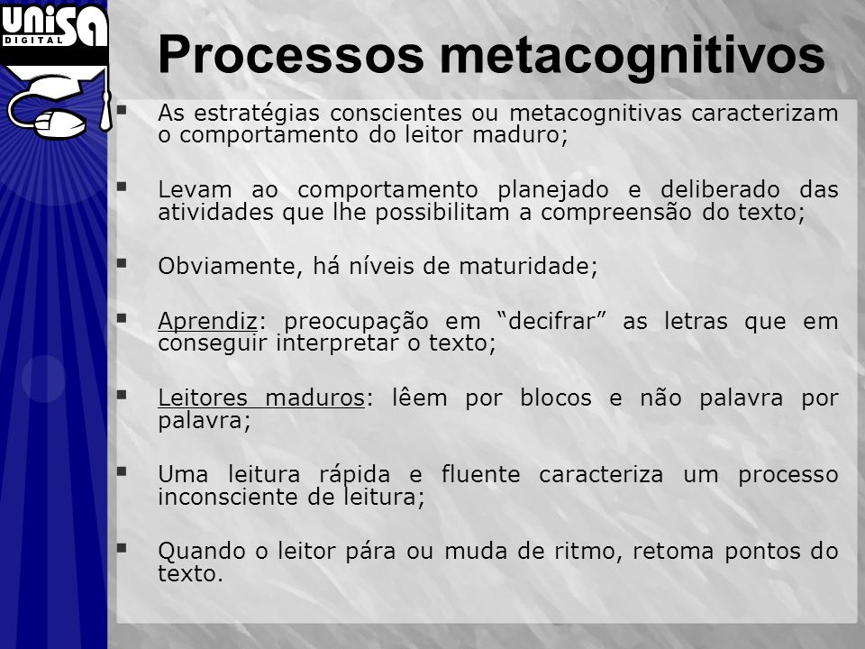 Processos metacognitivos