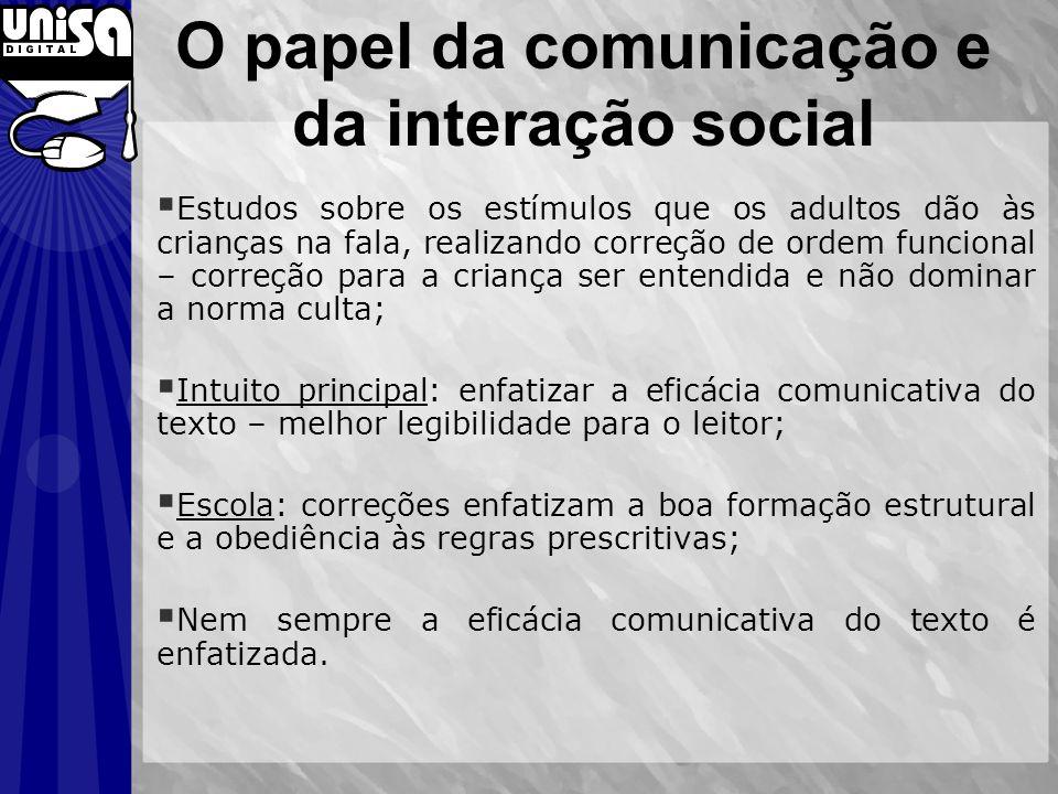 O papel da comunicação e da interação social