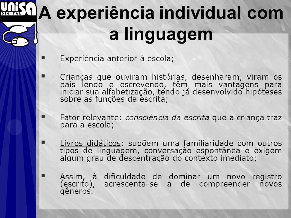 A experiência individual com a linguagem