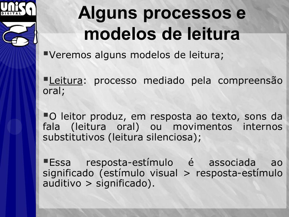 Alguns processos e modelos de leitura