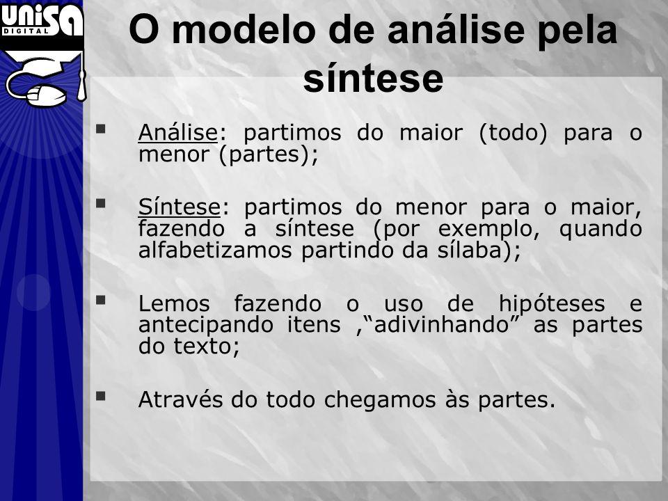 O modelo de análise pela síntese