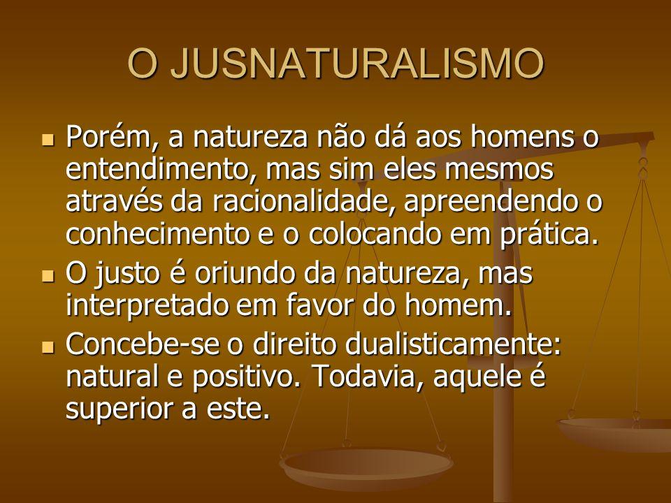 O JUSNATURALISMO