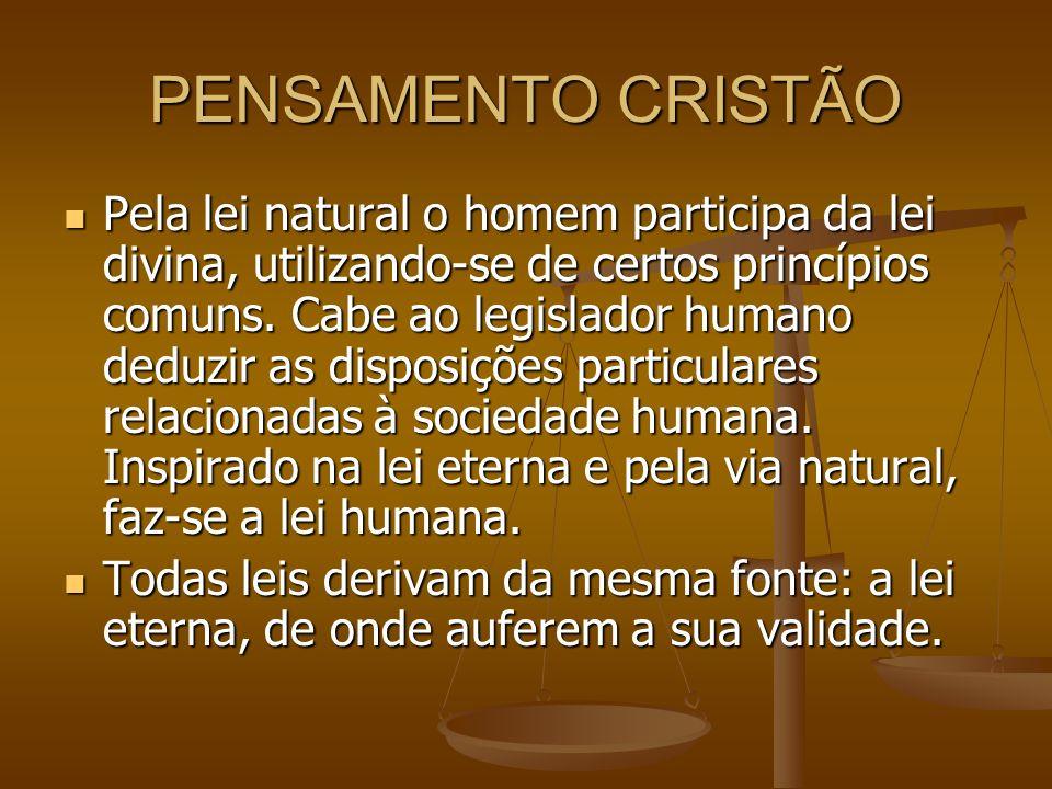 PENSAMENTO CRISTÃO
