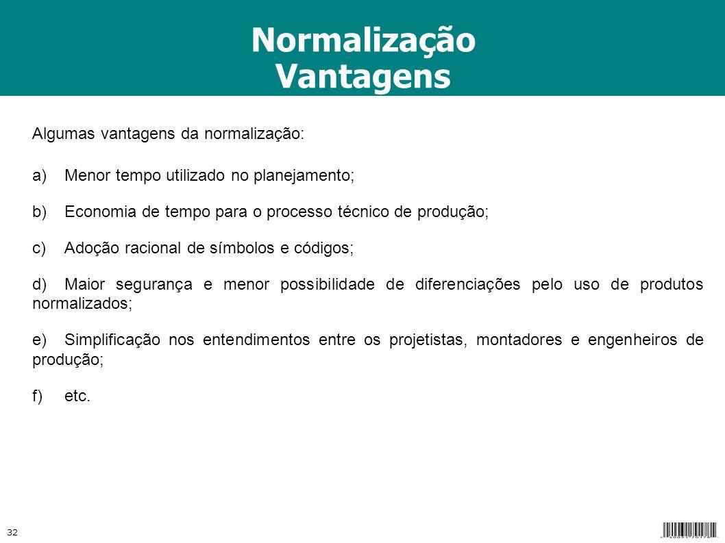 Normalização Vantagens