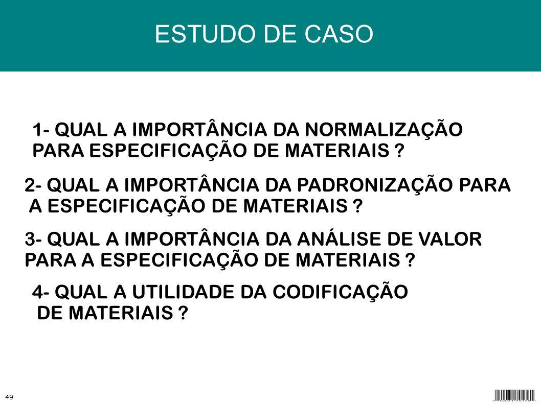 ESTUDO DE CASO r 1- QUAL A IMPORTÂNCIA DA NORMALIZAÇÃO
