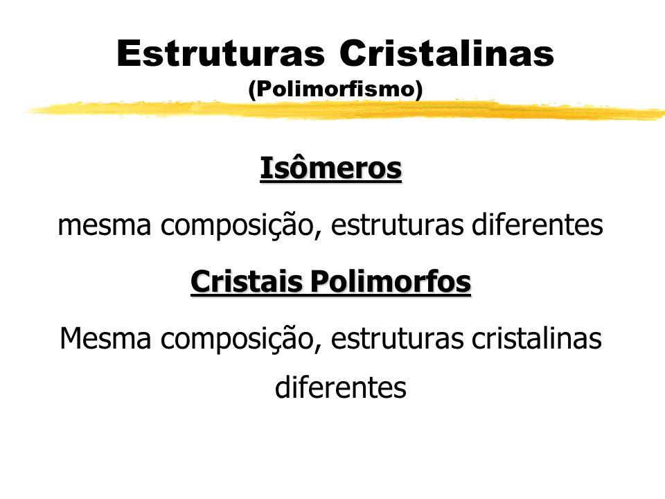 Estruturas Cristalinas (Polimorfismo)