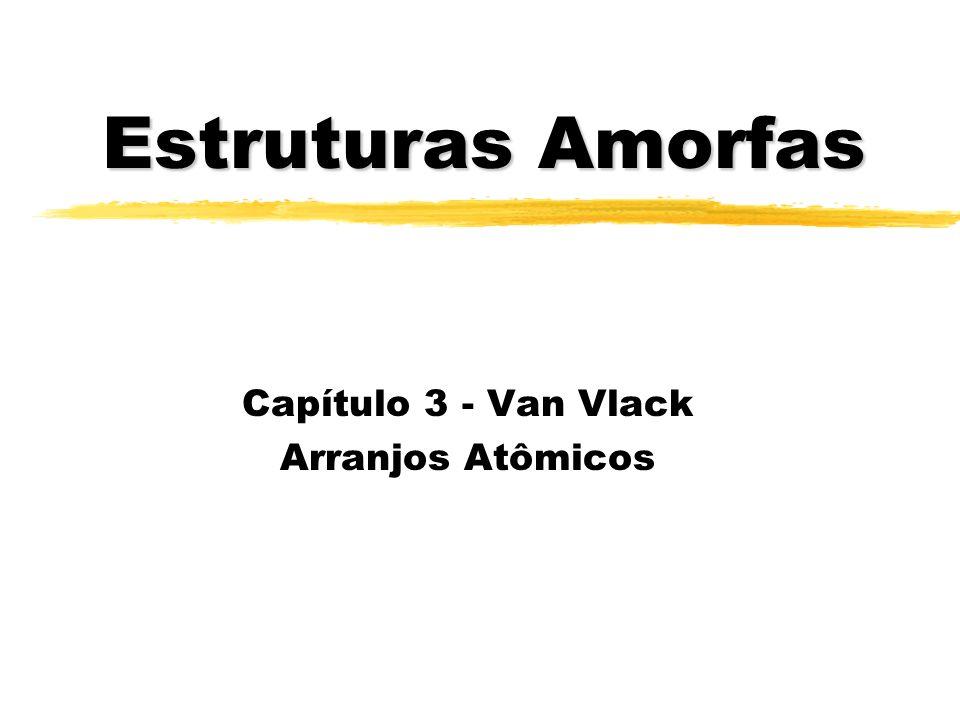 Capítulo 3 - Van Vlack Arranjos Atômicos