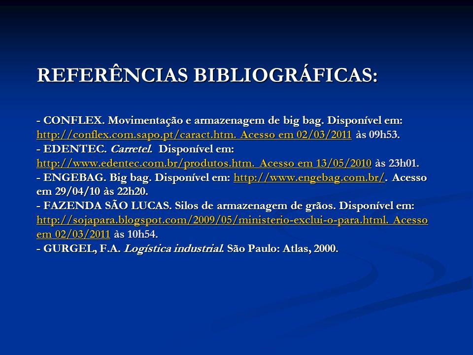 REFERÊNCIAS BIBLIOGRÁFICAS: - CONFLEX