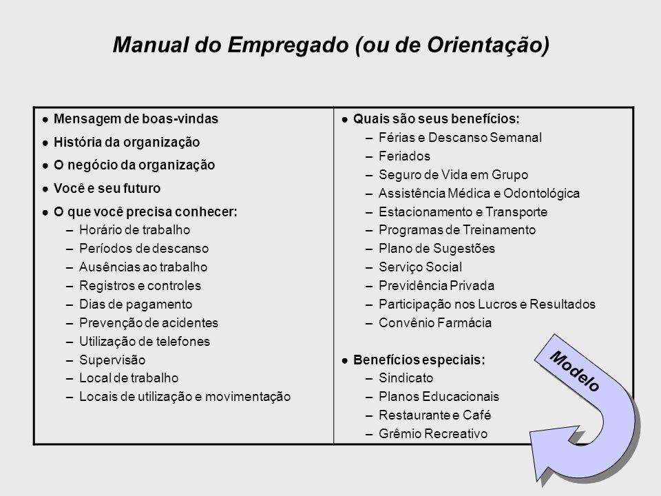 Manual do Empregado (ou de Orientação)