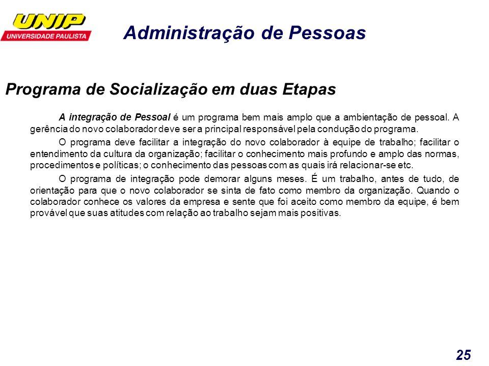 Programa de Socialização em duas Etapas