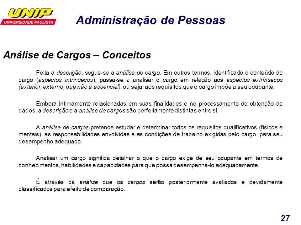 Análise de Cargos – Conceitos