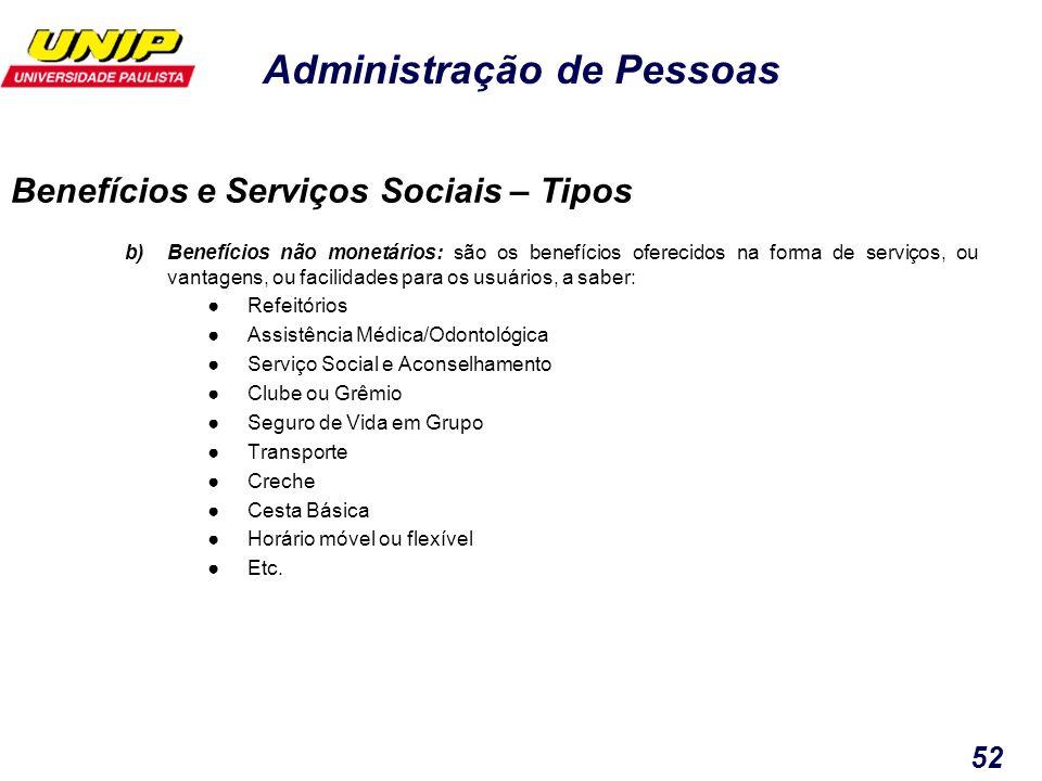 Benefícios e Serviços Sociais – Tipos