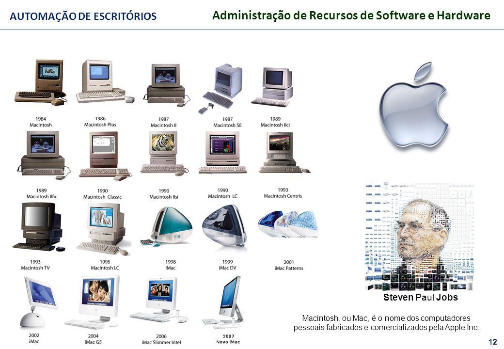 Steven Paul JobsMacintosh, ou Mac, é o nome dos computadores pessoais fabricados e comercializados pela Apple Inc.