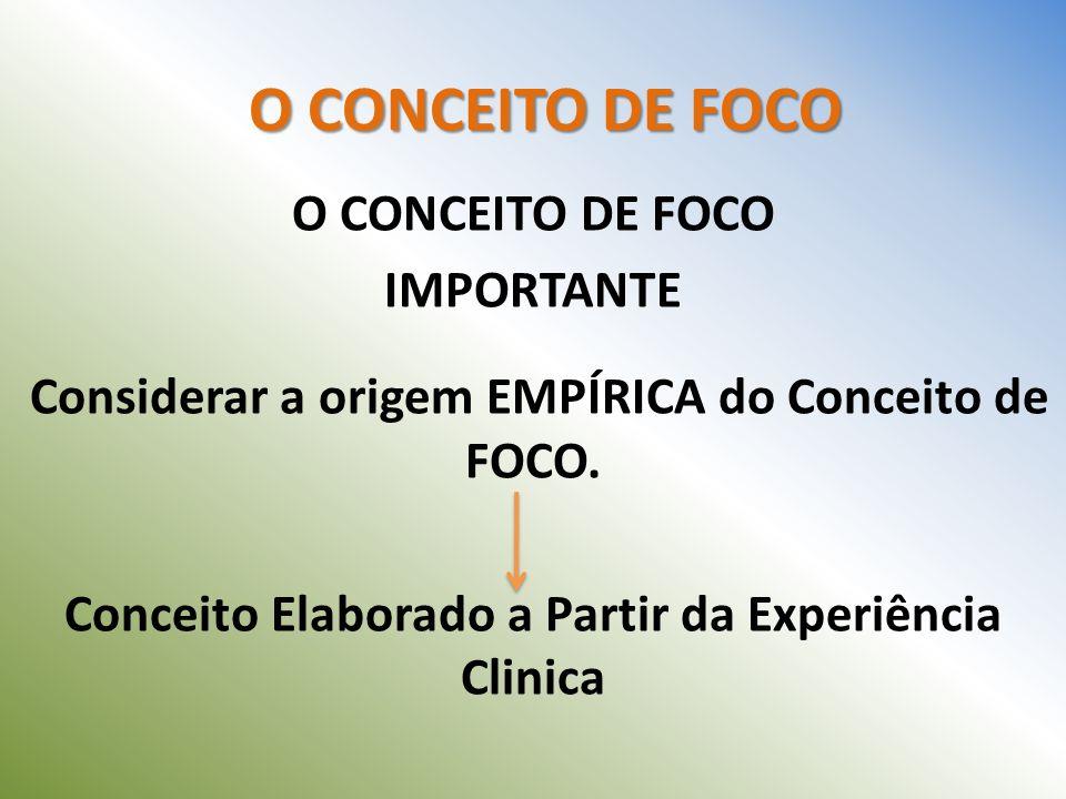 Considerar a origem EMPÍRICA do Conceito de FOCO.