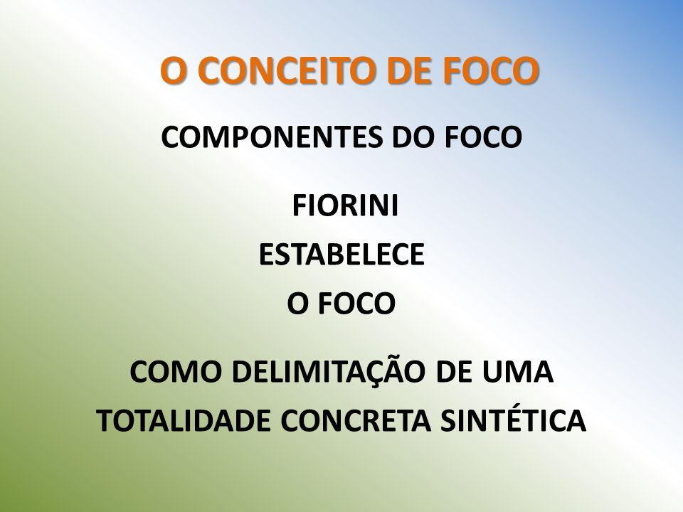COMO DELIMITAÇÃO DE UMA TOTALIDADE CONCRETA SINTÉTICA