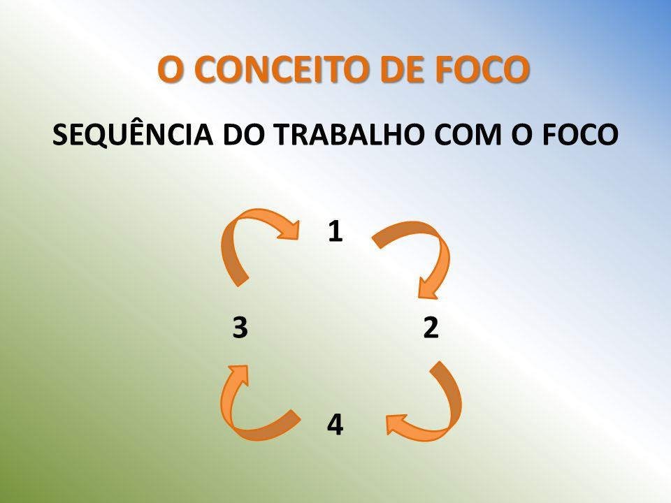 SEQUÊNCIA DO TRABALHO COM O FOCO 1 2 4