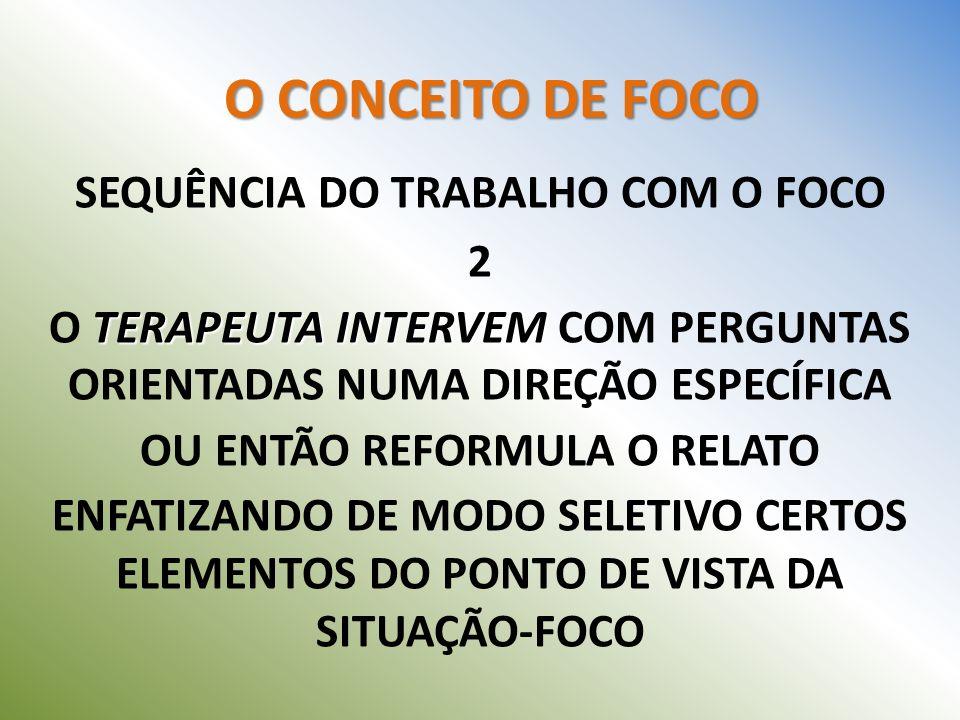 SEQUÊNCIA DO TRABALHO COM O FOCO 2