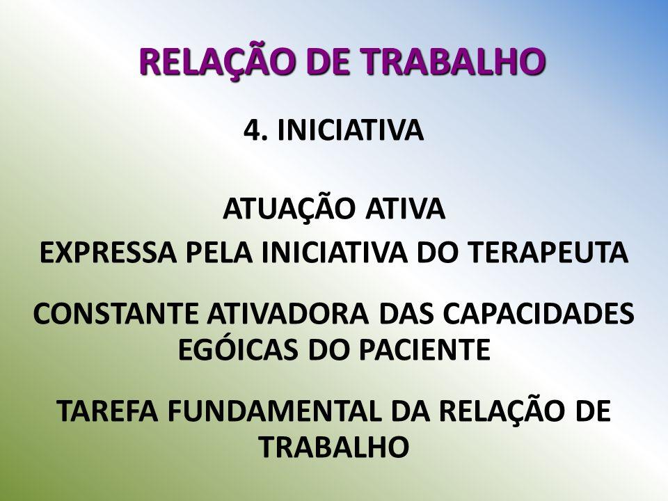 RELAÇÃO DE TRABALHO 4. INICIATIVA ATUAÇÃO ATIVA