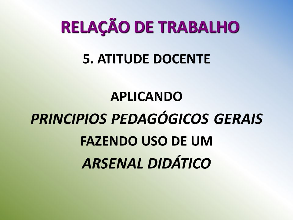 PRINCIPIOS PEDAGÓGICOS GERAIS