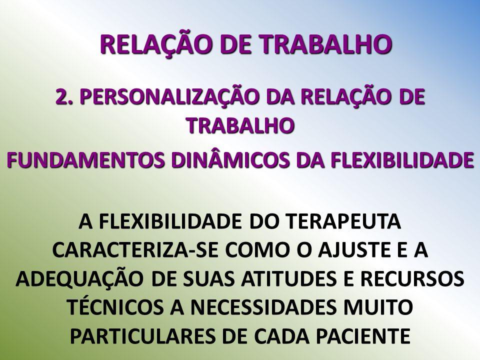 RELAÇÃO DE TRABALHO 2. PERSONALIZAÇÃO DA RELAÇÃO DE TRABALHO