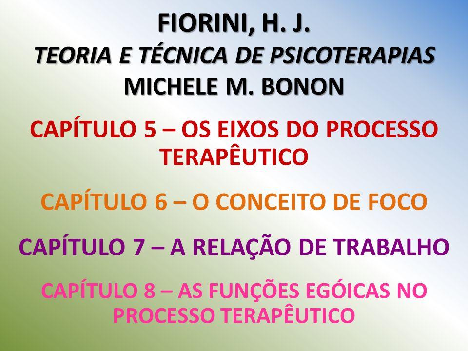 FIORINI, H. J. TEORIA E TÉCNICA DE PSICOTERAPIAS MICHELE M. BONON