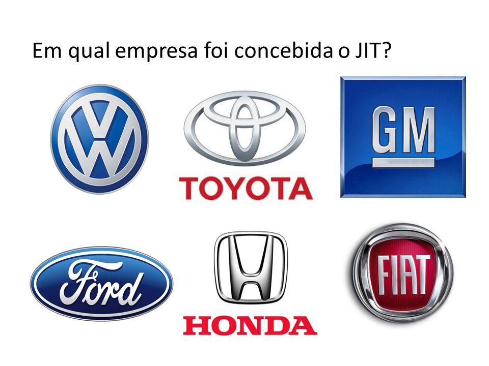 Em qual empresa foi concebida o JIT