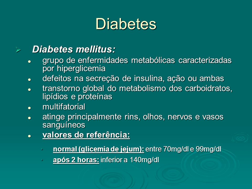 Diabetes Diabetes mellitus: