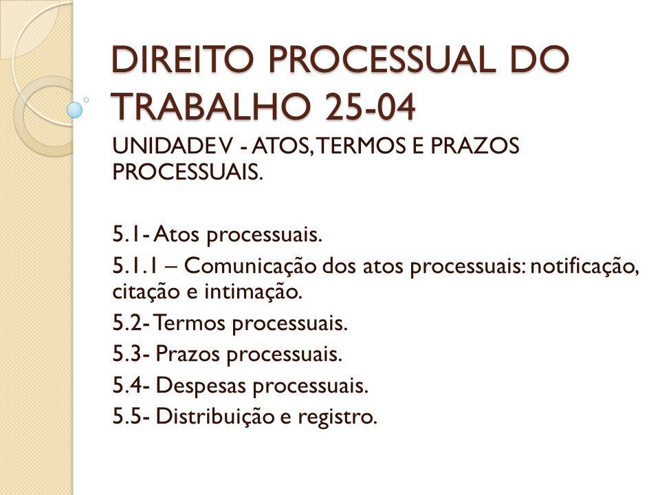 DIREITO PROCESSUAL DO TRABALHO 25-04